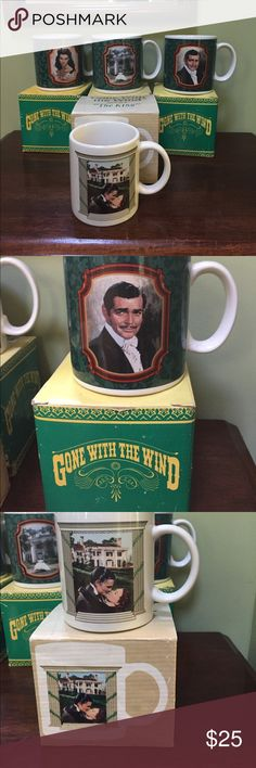 Bundle of 4 gone with the wind coffee mugs cups Yes you get all 4 - I don't want to separate- 4 gone with the wind coffee mugs or cups - they all come with the original boxes - ok I think they are new - I can tell you I have never used them and they look new- you get one Scarlett O'Hara mug 2 Rhett Butler mug 3 one Rhett & Scarlett kissing 4 for the love of Tara - with boxes gone with the wind Accessories