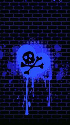 Pink Skull Wallpaper, Black And Blue Wallpaper, Lip Wallpaper, Cute Wallpaper For Phone, Heart Wallpaper, Cellphone Wallpaper, Wallpaper Backgrounds, Sugar Skull Tattoos, Sugar Skull Art