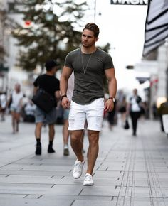 20 casual mens outfits ideas with white sneakers 11 ⋆ talkinggames net is part of Summer outfits men - 20 casual mens outfits ideas with white sneakers 11 Summer Outfits Men, Casual Outfits, Summer Men, Simple Outfits, Casual Shirts, Streetwear Summer, Casual Wear For Men, Mens Casual Summer Style, Mens Fashion Week