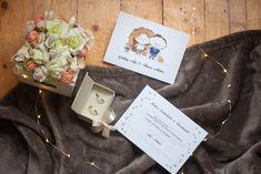 Esküvői meghívó egyedi illusztrációval - Színes emlék Rólatok Gift Wrapping, Gifts, Presents, Wrapping Gifts, Gifs, Gift Packaging, Present Wrapping, Gift