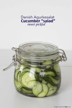 Danish Cucumber Salad - recipe in English