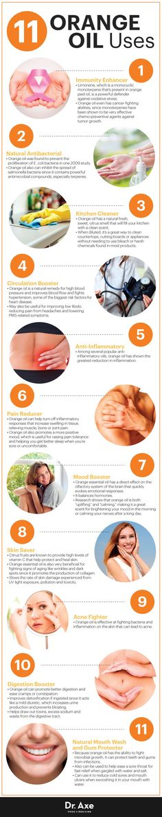 Orange oil uses - Dr. Axe http://www.draxe.com #health #holistic #natural