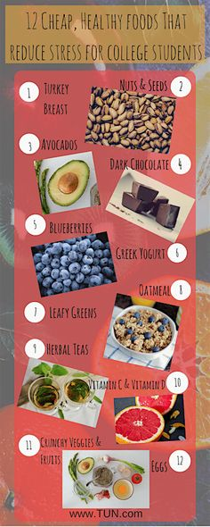 How to eat cheap and healthy in college infographic college cheap nutritious foods to keep the stress away the university network ccuart Image collections