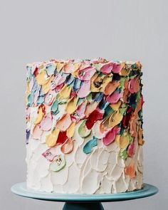 Oil paint style cake deco