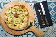 Flammkuchen Birne-Gorgonzola