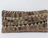 Lumbar kilim pillow cover Turkish cushion sofa throw pillow decorative pillow case couch outdoor floor bohemian boho ethnic rug accent 22109