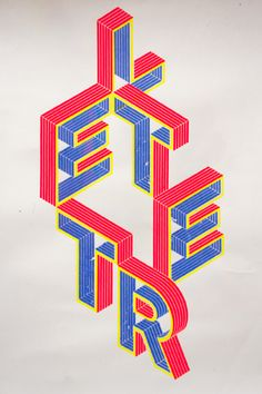 Typographic Silk Screen on Behance