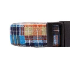 Patchwork Plaid Dog Collar by chucklehounds on Etsy