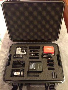 GoPro camera in pelican case