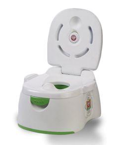 Así es mi pocetica para empezar a ir al baño. Pero también es mi banquito para subir a lavarme los dienticos. Me encanta!!