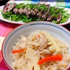 春を感じたくて… - 13件のもぐもぐ - たけのこご飯と鰹のたたき by takuminoyome