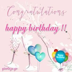Best Happy Birthday Wishes giortazo Make someone's birthday more special Pics And Gifs Animated Happy Birthday Wishes, Happy Birthday Greetings Friends, Happy Birthday Fun, Happy Birthday Messages, Birthday Cards, Useful Life Hacks, Feeling Loved, Gifs, Greeting Cards