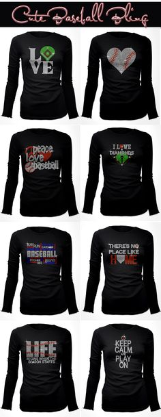 Really Cute Rhinestone Baseball Shirts which can be customized. Really Cute Rhinestone Baseball Shirts which can be customized. Softball Shirts, Softball Mom, Mom Shirts, Sports Shirts, Softball Stuff, Sports Apparel, Volleyball, Baseball Crafts, Baseball Boys