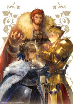 Saber, Rider and Archer - Three Kings - Fate/Zero
