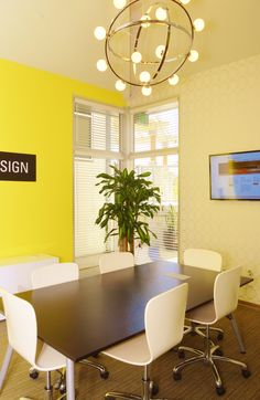 Bops Finished Conference room. A bright & creative space!