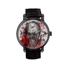 Bloody Skull Horror Goth Watch by Gothic Toggs
