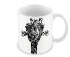 Giraffe Charcoal Design Mug