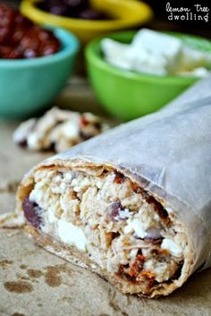 Mediterranean Tuna Wrap (she: Cathy). I love this wrap, and it's easy to mix it up a bit too.