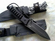 L.W D2 SEEKER Cord Grip Stone Wash Edition Fixed Blade Knives