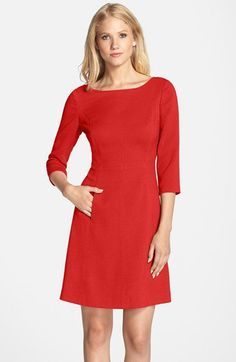 Vince Camuto Crepe A-Line Dress (Regular & Petite)   Nordstrom