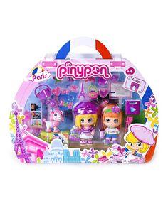 Loving this Paris Traveler Pinypon Set on #zulily! #zulilyfinds