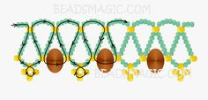 Free pattern for necklace Сhampagne -1. ----U need  Seed Beads 11, 6-8 and Rondelle Beads 8-10