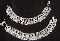 Silver Heavy Belled Payal.
