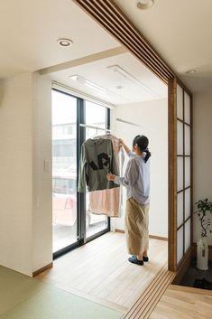 Japan Architecture, Architecture Design, Outdoor Laundry Area, Shoji Doors, Modern Japanese Interior, Toilet Design, Minimal Home, House Inside, Laundry Room Design