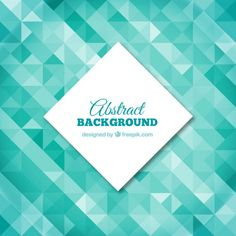 Polygonal background in turquoise tones Free Vector