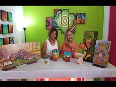 Reciclaje. Decoración de macetas - YouTube Craft Videos, Ideas Para, Creative Design, Beach Mat, Decoupage, Toddler Bed, Recycling, Abstract Art, Outdoor Blanket