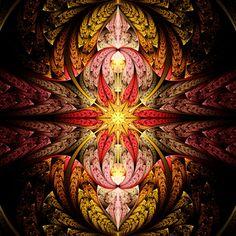Autumn Star Fractal by Rosshilbert