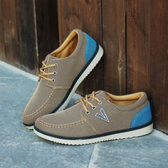 c500714f6a6 Aliexpress.com   Buy 2017 Spring New Design Brown Canvas Shoes Fashion  Breathable Shallow Men Casual Shoes Blue Flat Vulcanized Board Shoes from  Reliable ...