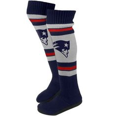 Official New England Patriots ProShop - Ladies Knit Knee Sock Slipper I love these for the teens!!