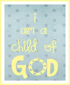 I am a Child of God printable-Boy