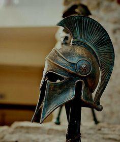 A photo journey in Greece Spartan Warrior, Spartan Helmet, Elmo, Samourai Tattoo, Spartan Tattoo, Greek Helmet, Ancient Armor, Greek Warrior, Greek Mythology