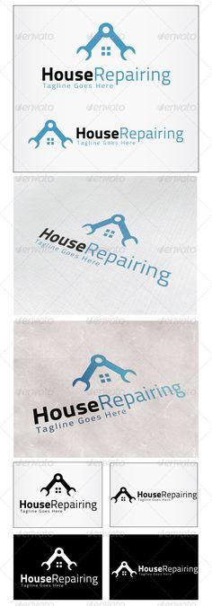 House Repairing  Logo Design Template Vector #logotype Download it here:  http://graphicriver.net/item/house-repairing-logo/4029123?s_rank=996?ref=nexion