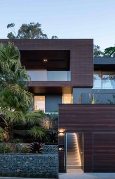 Modern architecture house design with minimalist style and luxury exterior and interior and using the perfect lighting style is inspiration for villas mansions penthouses Architecture Design, Modern Architecture House, Modern House Facades, Stairs Architecture, Modern Buildings, Residential Architecture, Landscape Architecture, Modern Exterior, Exterior Design