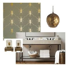 Bathroom Inspiration: Golds, Bugs, and Neutrals