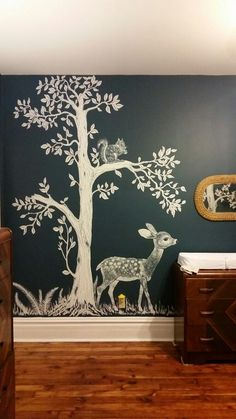 Deer, art for kids bedroom