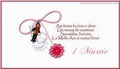 Felicitari de 1 Martie - Am trimis la tine`n zbor, un mesaj de mărţişor, sănătate, fericire, la mulţi ani şi numai bine! - mesajeurarifelicitari.com