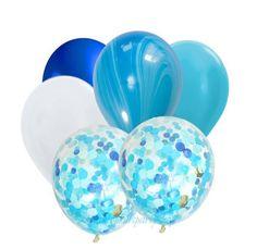 Ocean Blue Confetti Balloon Bouquet