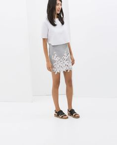 Image 1 of SKIRT WITH LACE FRONT from Zara