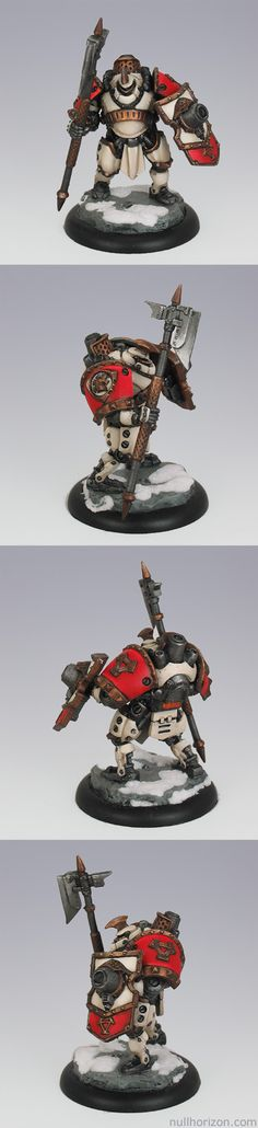 Warmachine Project Rainy Day Khador Drakhun (dismounted)