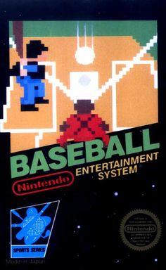 #Baseball - Label or Box Art #nintendo games #gamer #snes #original #classic #pin #synergeticideas #gameon #play #award