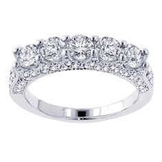 14k White Gold 2 1/2ct TDW Diamond Wedding Band (F-G, SI1-SI2) | Overstock.com Shopping - The Best Deals on Women's Wedding Bands