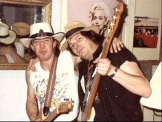 Stevie Ray Vaughan (left, with bassist Tommy Shannon) failed music theory and the teacher told him he would never amount to anything!