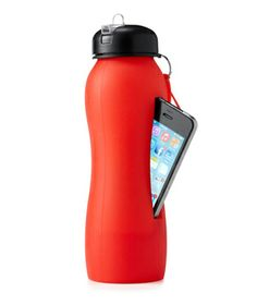 Beat Bottle :  Built with a slot to hold your iPhone, this speaker and water bottle combo amplifies music through the base, so you can—quite literally—drink in your favorite tunes. Compatible with iPhone 4 and 5.  To buy: $20, uncommongoods.com.