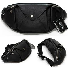 Fanny Packs for Men Faux Leather Waist Packs Korean Bag TOPPU 349 | chanchanbag.com | Design makes you feel satisfied Best Stylish Fanny Packs for Men