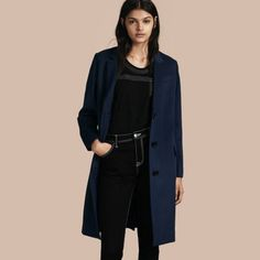 Cashmere Tailored Coat Bright Navy