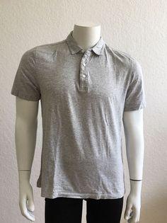 41e17b27f92 EVERLANE MEN S Casual Polo Shirt Gray Sz M  fashion  clothing  shoes